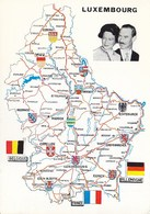 Luxembourg - Le Grand Duche De Luxembourg Map Postcard - Grand-Ducal Family