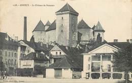 CPA 74 Haute Savoie Annecy Le Château De Nemours - Pittier Phot.1128 - Non Circulée Hotel Du Port Bellevue Café Harmonie - Annecy
