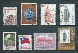 FORMOSE  Yvert  N° 463-606-683-685-1087-1198-1872-3309  Oblitérés - 1945-... Republic Of China