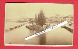 GENEVE ET LE MONT BLANC VERS 1870 1880 PHOTOGRAPHE GARCIN A GENEVE SUISSE SAVOIE CDV PHOTOGRAPHIE - Lieux