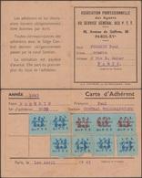 France 1943. Carte D'adhérent à L'association Professionnelle Des Agents Du Service Général Des PTT. Télégraphie - Poste