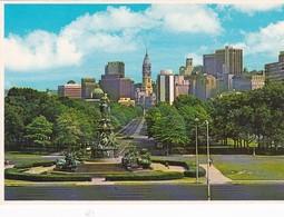 Pennsylvania Philadelphia Skyline Overlooking Benjamin Franklin Parkway - Philadelphia