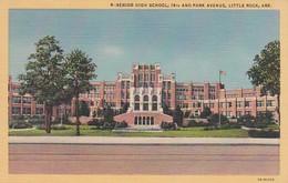 Arkansas Little Rock Senior High School 14th And Park Avenue Curteich - Little Rock