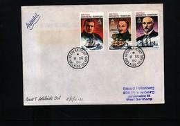 British Antarctic Territory 1980 Adelaide Island Interesting Cover - Britisches Antarktis-Territorium  (BAT)