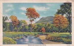 Maine Borestone Mountain 1938 Curteich - United States