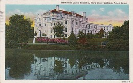 Iowa Ames Memorial Union Building Iowa State College 1947 Curteich - Ames
