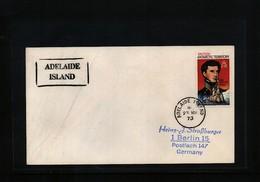 British Antarctic Territory 1973 Adelaide Island Interesting Cover - British Antarctic Territory  (BAT)