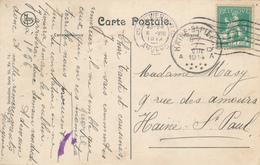 540/27 - DEBUT DE LA GUERRE - Carte-Vue TP Pellens ANTWERPEN  6 VIII 1914 Vers HAINE ST PAUL Via ST PIERRE - Guerra '14-'18