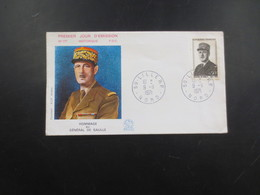 Hommage Au General De Gaulle  1 Er Jour - France