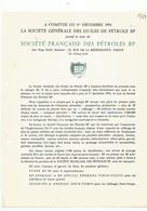Doc Societe Francaise De Petroles Bp  Solexine Energic 2temps Etc 1954 - France
