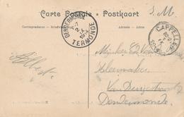 541/27 - DEBUT DE LA GUERRE - Carte Multivues CAPPELLEN En Service Militaire CAPPELLEN 1 IX 1914 Vers DENDERMONDE - WW I