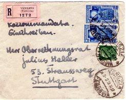 ITALIA  Storia Postale  Regno   Anno Santo  Coppia Lire 1.25  Racc.  Del  3 - 2 - 1934  X Germania - Non Classificati