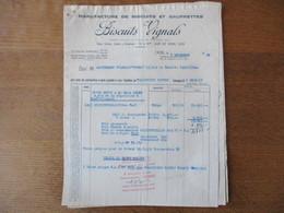 LYON BISCUITS VIGNALS MANUFACTURE DE BISCUITS ET DE GAUFRETTES 56 QUAI DE SERIN FACTURES BON DE LIVRAISON  DU 7/12/1949 - France
