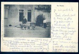 Top Cpa Du 58 La Nocle Charrette à Chien Départ Du Courrier Facteur Attelage  Carte Rare   GX15 - Autres Communes