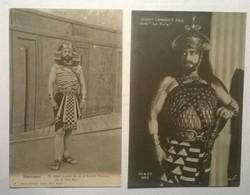 Lot De 2 Cartes Postales Anciennes / OPERA / Albert LAMBERT Fils De La Comédie Française / Semiramis & La Furie - Politicians & Soldiers