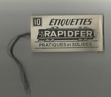 Chemin De Fer Petit Carnet étiquettes Rapidfer Train Pratiques Et Solides Format 6,5x12,5 Cm Avec Fils De Fer, Sncf ? - Chemin De Fer