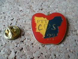 PIN'S    PTT COS DEPARTEMENT EURE 27  POMME  APPLE - Mail Services