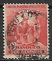 PEROU     -   1896    Y&T N° 109 Oblitéré.   L' Inca  MANCO CAPAC - Pérou