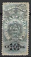 NICARAGUA    -   1908 .   Y&T N° 236 Oblitéré.   Fiscal Surchargé Correo - Nicaragua