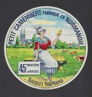 Etiquette De Fromage Petit Camembert  -  Bouquet Normand  - Laiterie De Mantilly    (61 B ) - Fromage