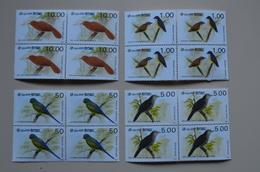 Sri Lanka 1987 4 X Bloc 4 MNH Perroquet Parakeet Starling Babbler Flowerpecker Oiseau Birds Oiseaux Bird - Parrots