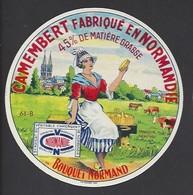 Etiquette De Fromage  Camembert  -  Bouquet Normand  - Laiterie De Mantilly    (61 B ) - Fromage