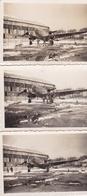 BRETIGNY-sur-ORGE - Lot De 3 Clichés D'un Bombardier Dur L'Aérodrome  - Avion, Aviation - Voir Description - Bretigny Sur Orge