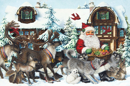 Winter Christmas New Year Santa Claus Rare New Postcard 140/2 - Kerstman