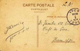 545/27 - OCTOBRE 1914 - Carte-Vue En Service Militaire YPER 3 X  1914 Vers HAAN Aan Zee - WW I
