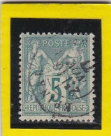 N° 75  TYPE SAGE + CACHET  A DATE EPINAL  10 NOV. 1877 - REF 24-24 - 1876-1898 Sage (Type II)
