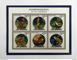 St.Kitts 2014** Klb.1397-02. Hummingbirds Of The Caribbean MNH [16;79] - Hummingbirds