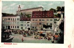 Rudolstadt, Markt, Markttag, Feldpost 1915 - Rudolstadt