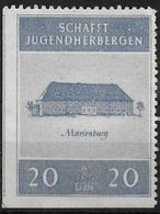 Deutsches Reich Spendenmarke 3e Reich Schaft Jugendherbergen Cinderella - Allemagne
