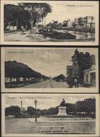 3 Union Postale Universelle Carte Postale Egypte Format 6.15x14 Alexandrie Canal Mahmoudieh Promenade Ramleh Statue - Egypt