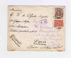 Sur Enveloppe Deux Timbres Empire Russe: 3 K. Rouge Et 7 K. Brun Effigie Nicolas II. CAD Mockba 1915. (885) - 1857-1916 Empire