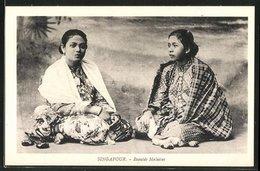 AK Singapur, Beautés Malaises, Zwei Frauen Aus Asien - Non Classificati