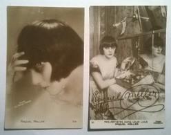Lot De 2 Cartes Postales Anciennes / Raquel MELLER - Artiesten