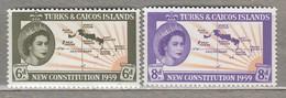 TURKS CAICOS ISLANDS 1959 Mi 178-179 SG 251-252 MNH(**) #23517 - Turks & Caicos (I. Turques Et Caïques)