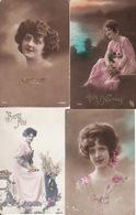 Lot 500 Cartes Fantaisie, Fantaisies : Enfants, Femmes, Couples, Fêtes .. - Cartes Postales
