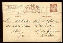 Entier Postal De Paris Pour Argeles En 1940 - N108 - Entiers Postaux