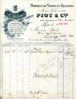 LYON.FABRIQUE DE VERNIS & SICCATIFS.PIOT & Cie 10 RUE MOUILLARD. - Chemist's (drugstore) & Perfumery