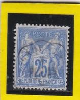 N° 78  TYPE SAGE + CACHET  CONVOYEUR STATION   - REF 24-24 - 1876-1898 Sage (Type II)