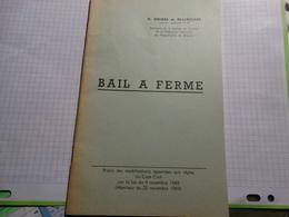 Bail à Ferme.H.Gouder De Beauregard.30 Pages. - Recht