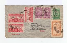 Sur Enveloppe Air France Sept Timbres Brésil CAD Rio Courrier Aérien 1936. Cachet Paris RP Avion. (887) - Lettres & Documents