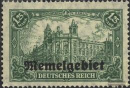 Memelgebiet 10 Con Fold 1920 Germania-Stampa - Memel (Klaïpeda)