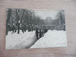 CPA 34 Hérault Béziers Sous La Neige Hiver 1914 N°1 Le Théatre - Beziers