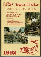 """Livre """" ARGUS FILDIER """" CARTES POSTALES - La Cote Des Cartes Postales Année 1992 - Livres"""
