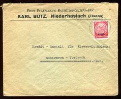 Enveloppe Commerciale De Niederhaslach  Pour Schimeck Vorbruck En 1940 - N114 - Marcofilia (sobres)