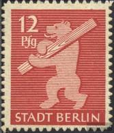 Sowjetische Zone (All.Bes.) 5B Con Fold 1945 Berlino Orso - Zona Soviética