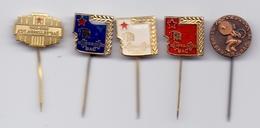 5 Different Pins Weightlifting Club HERKULES Bac Serbia Yugoslavia  Pin Badge - Weightlifting